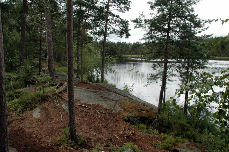 норвежская стоянка на озере