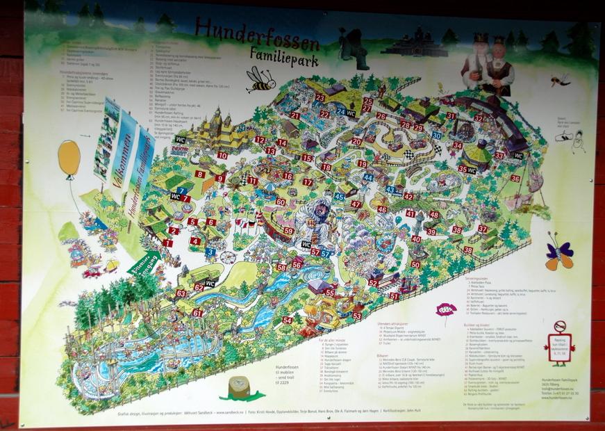 схема парка Хундерфоссен