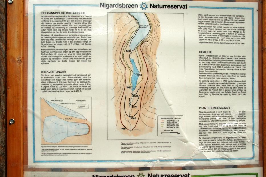 карта ледника за разные годы