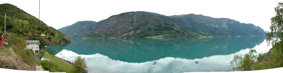 панорама фьорда