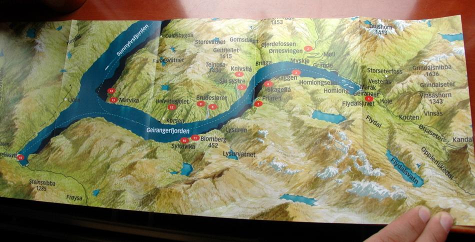 карта фьорда